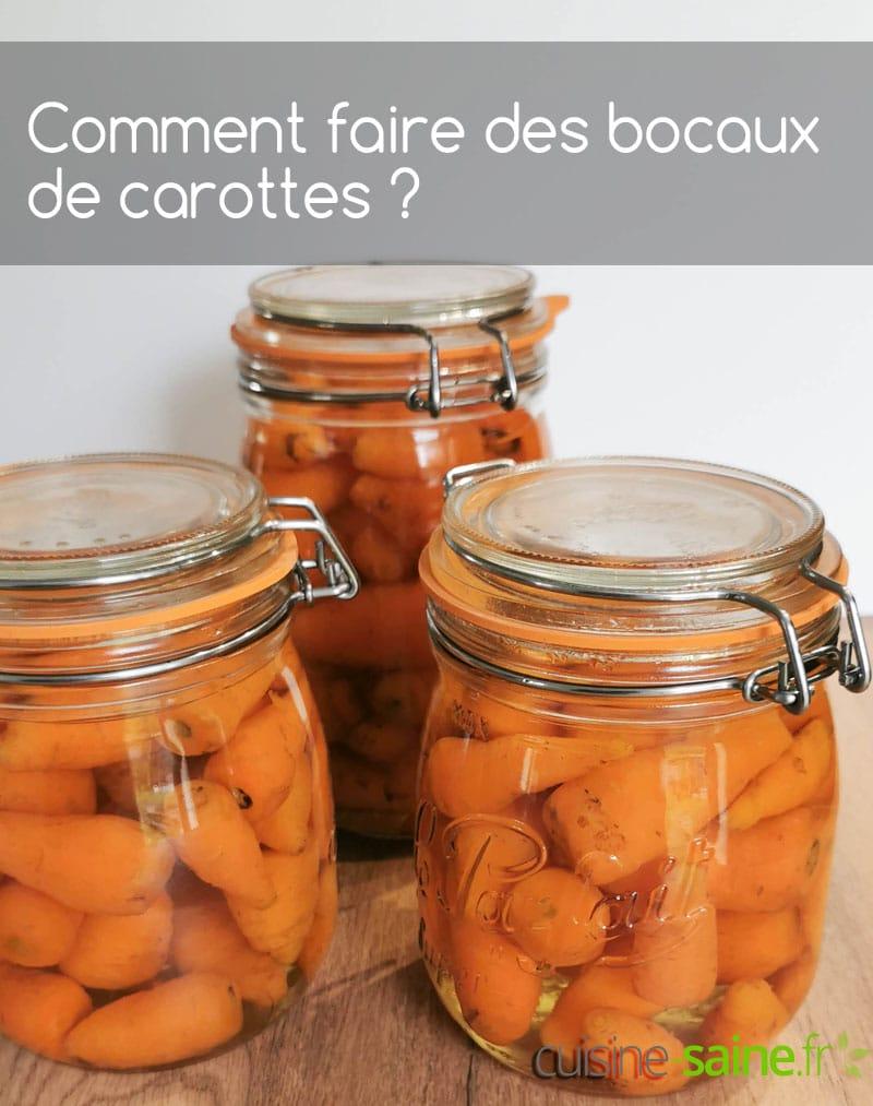 Recette de conserves de carottes entières au naturel
