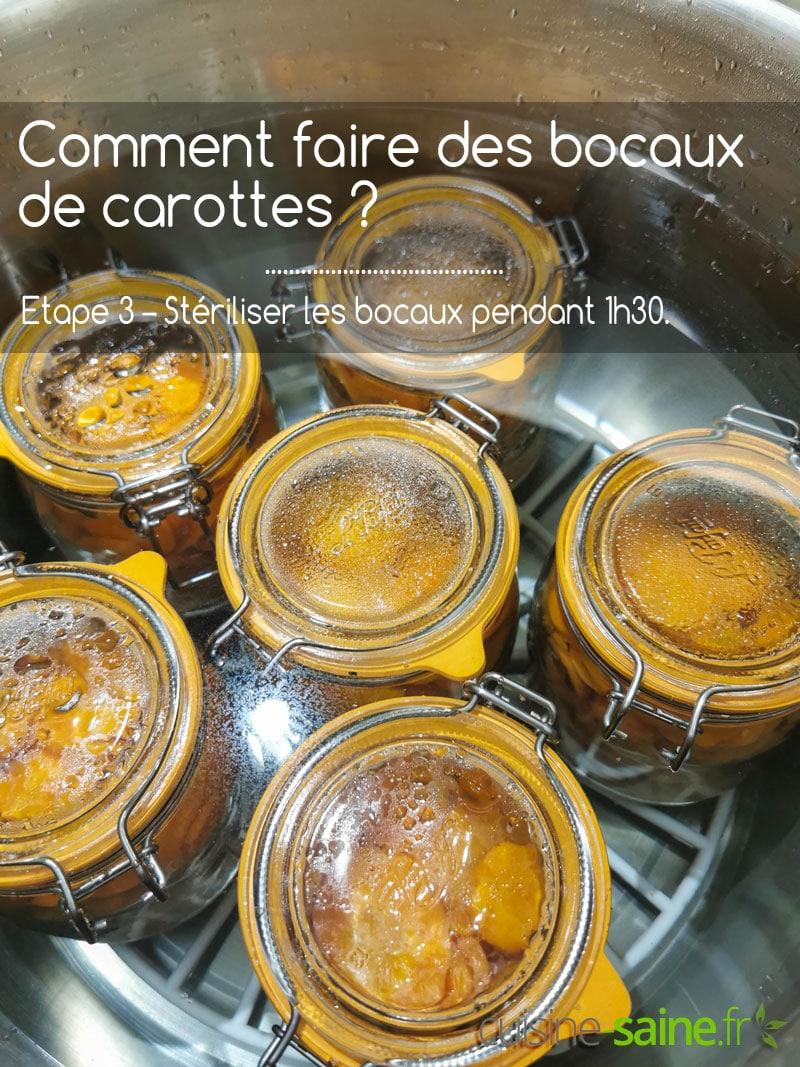 Etape 3 - stériliser les bocaux de carottes