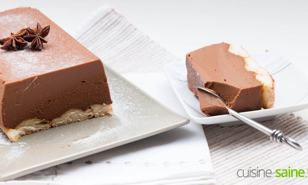 Recette de bûche de Noël au chocolat sans gluten ni lactose