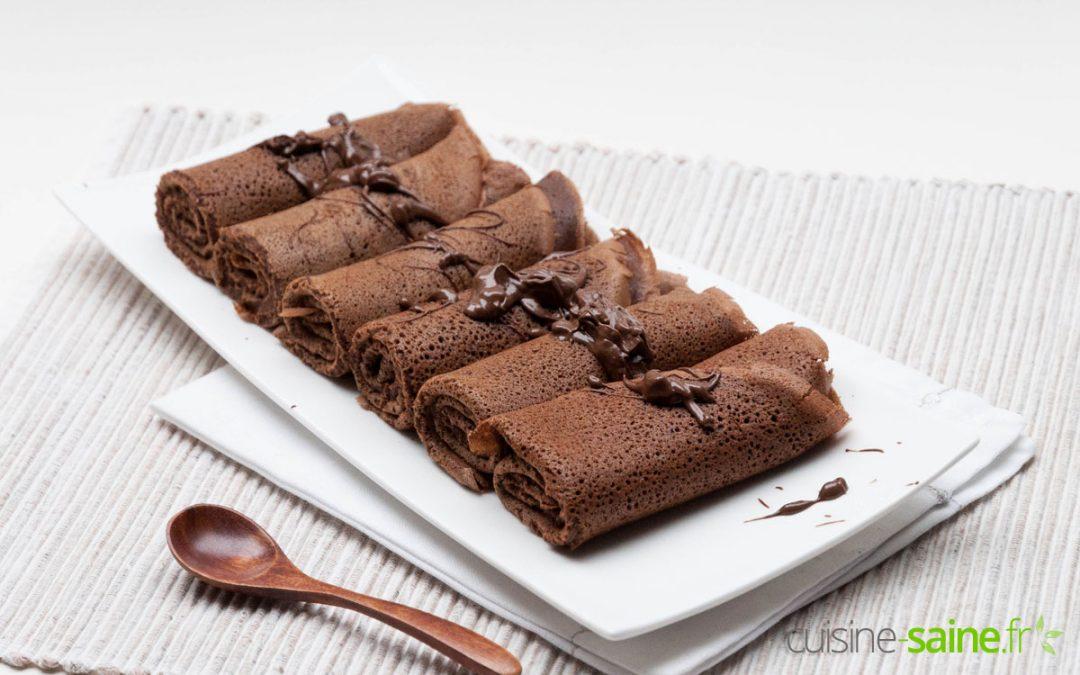 Crêpes au chocolat sans gluten ni lactose