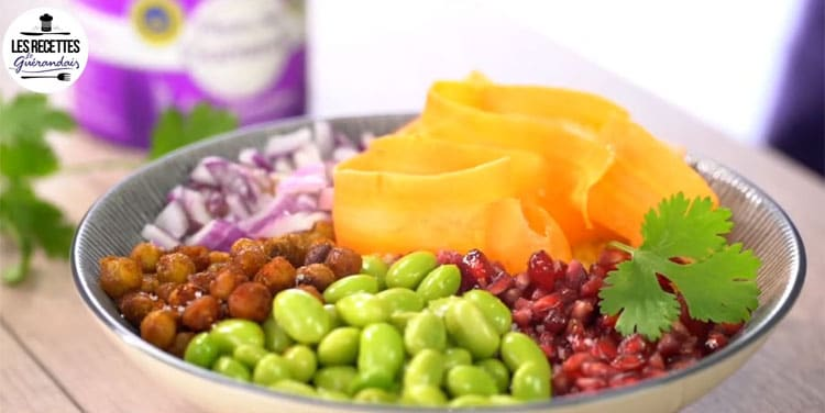 Le bowl végétarien à la Fleur de sel : des couleurs et des vitamines plein l'assiette