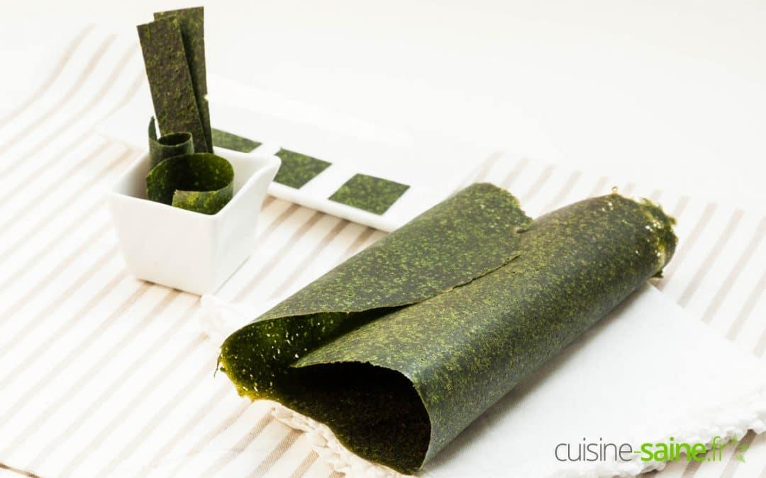 Recette de cuir de légumes crus