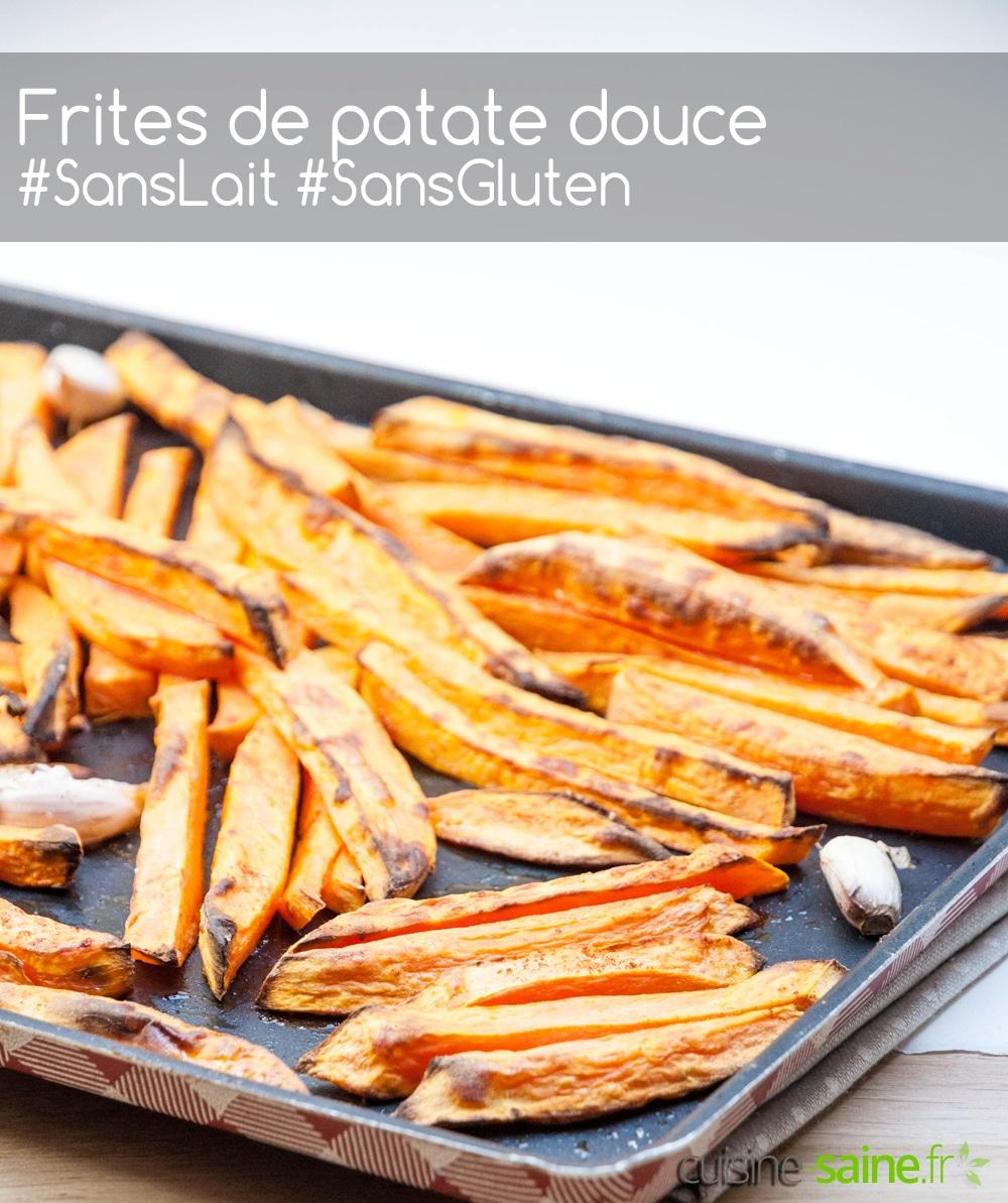 Recette de frites de patate douce au four