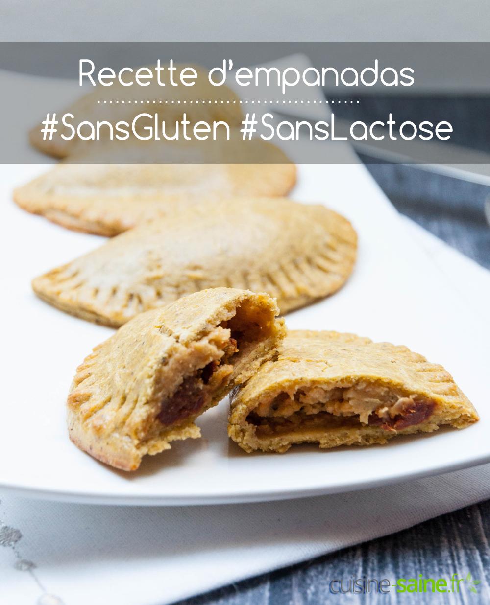 Recette d'empanadas sans gluten ni lactose au poulet ou végétarien