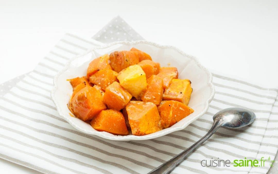 Recette de courge musquée rôtie au four sans gluten ni lactose