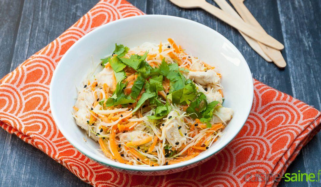 Salade de blancs de poulet à l'asiatique sans gluten ni lactose