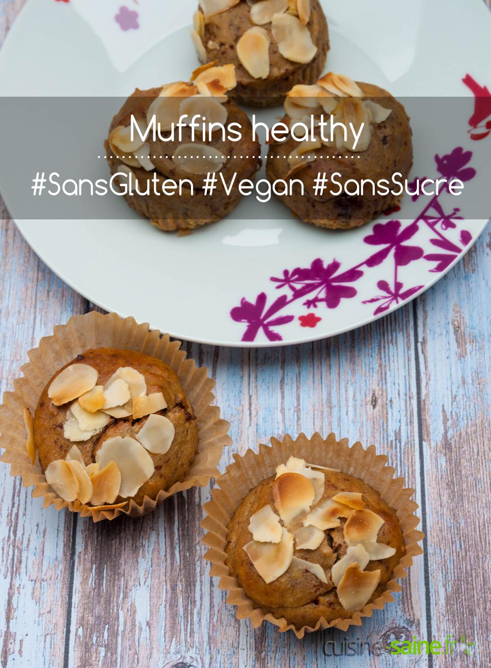 Muffin healthy vegan sans gluten et sans sucre
