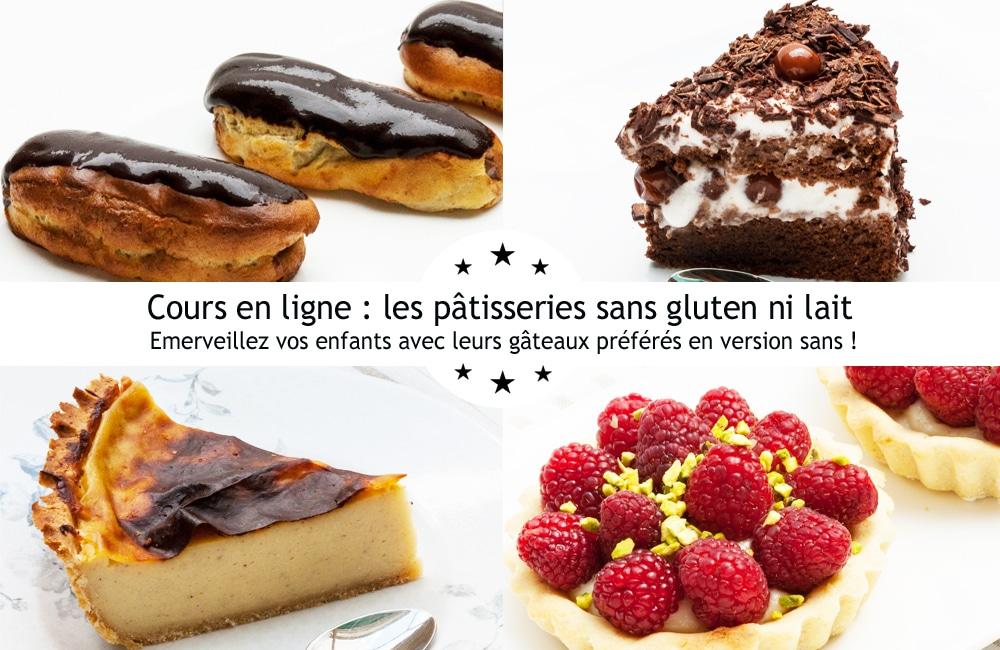 Cours en ligne pâtisseries ans gluten ni lait