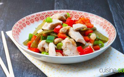 Recette de poulet aux noix de cajou sans gluten sans lactose