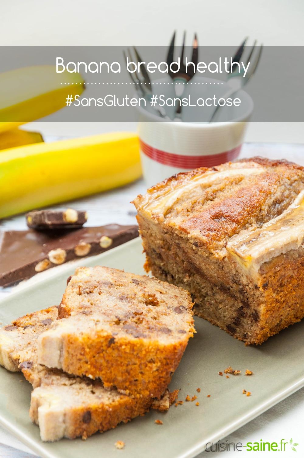 Banana bread sans gluten ni lactose healthy