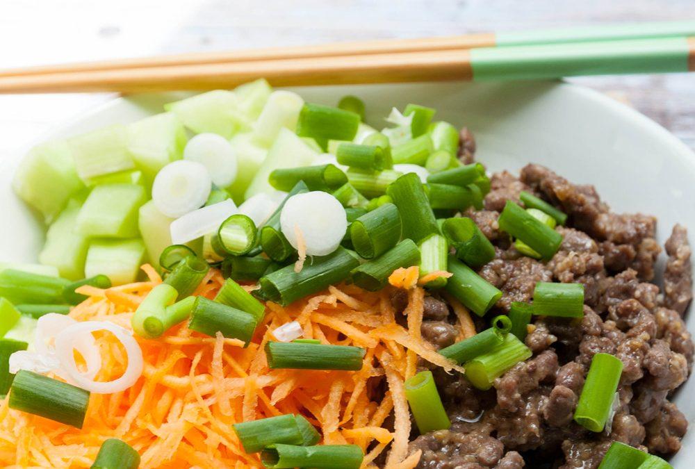 Recette Buddha bowl à la viande hachée sans gluten ni lait