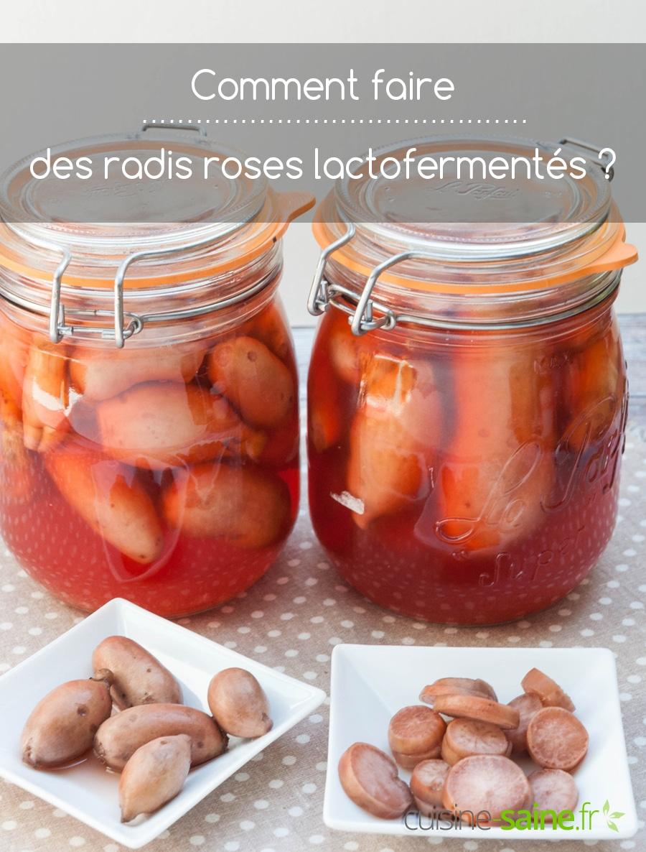 Recette radis rose en lacto-fermentation